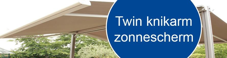 Knikarmscherm zonwering Twin