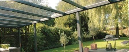 Veranda | terrasoverkapping aluminium met gelaagd glas