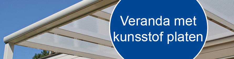 Veranda   terrasoverkapping met kunststof platen