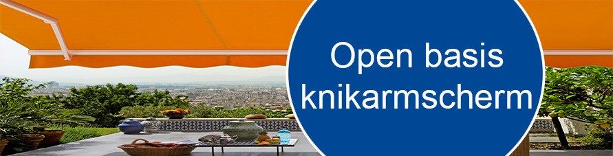Knikarmscherm open