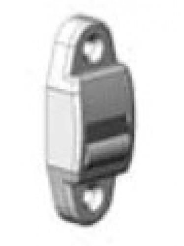 Kunststof bandgeleider met afdekkap en borstel
