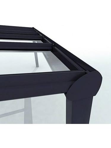 Veranda Verano Garda Polycarbonaat voorbeeld is met glas