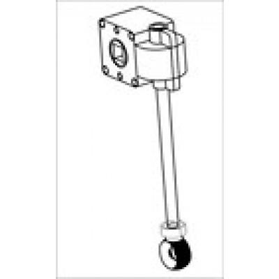 Blok oogwindwerk voor zonwering met lange as en kunstof oog 125 mm