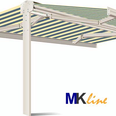 Mkline twin zonnescherm basic